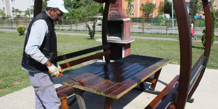 ÇAYIROVA:  Park ve bahçelerde hummalı çalışma