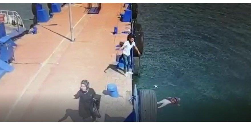 Denize atlayan kadın kurtarıldı