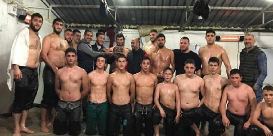 Güreşçilerin Kırkpınar hazırlığı