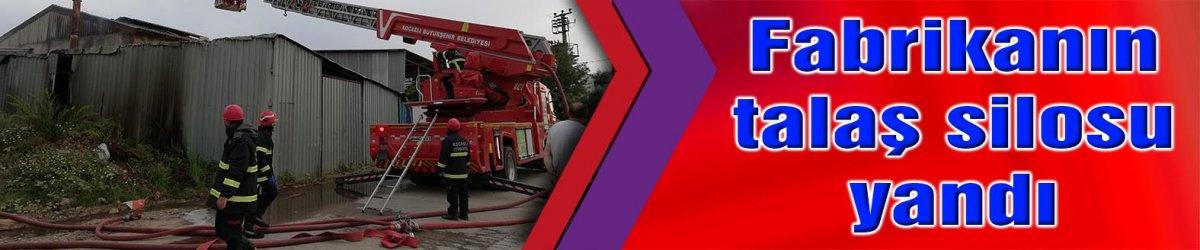 SAHİBİ ÇATIDAN DÜŞTÜ:  Fabrikanın talaş silosu yandı