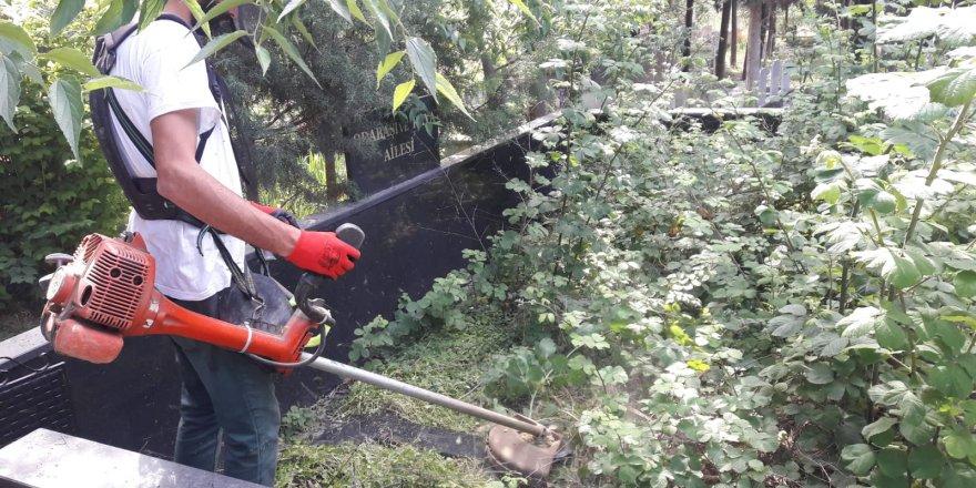 DARICA'DA:  Mezarlıklarda bakım ve temizlik
