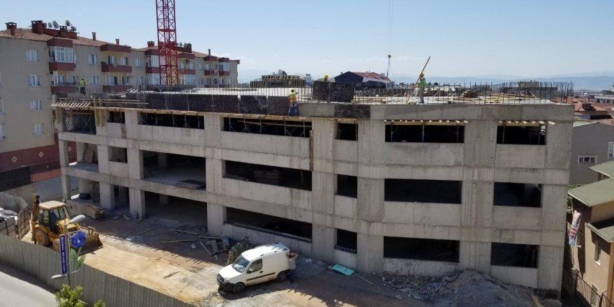 Gebze'deki 7 katlı otoparkın tüm katları şekillendi