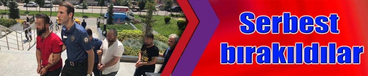 KADIN POLİSLERE SÖZLÜ TACİZ:  Serbest bırakıldılar