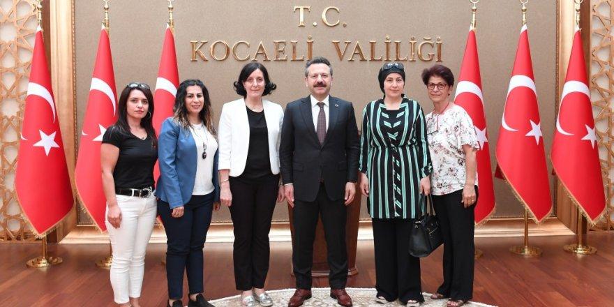 Kadın muhtarlardan Vali Aksoy'la görüştü