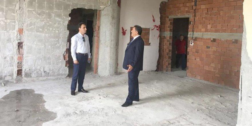 Kaymakam Güler okul inşaatlarını denetledi