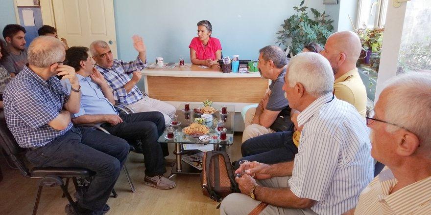 Gergerlioğlu, Emek Partisi'ni ziyaret etti