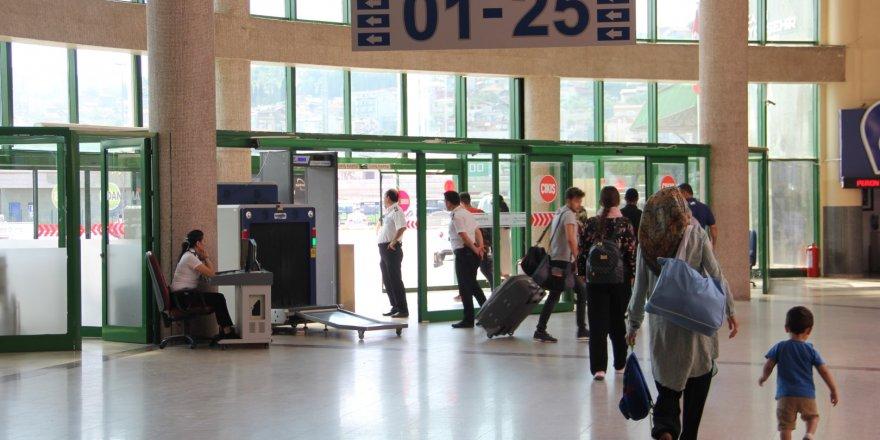 Terminal, bayramda 42 bin ziyaretçiyi ağırladı