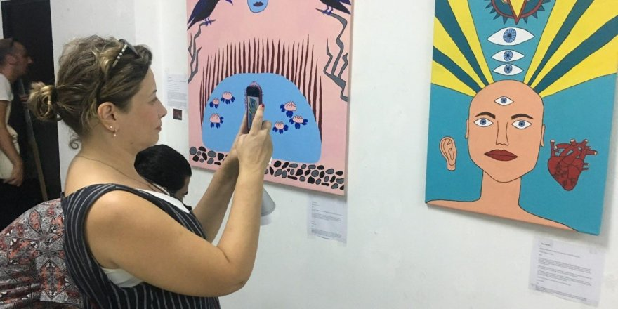 Sanat çalıştayına 'savaş çocukları' damga vurdu