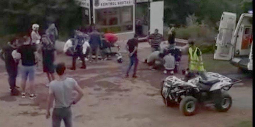 ATV ARACI DEVRİLDİ: İranlı 2 turist yaralı