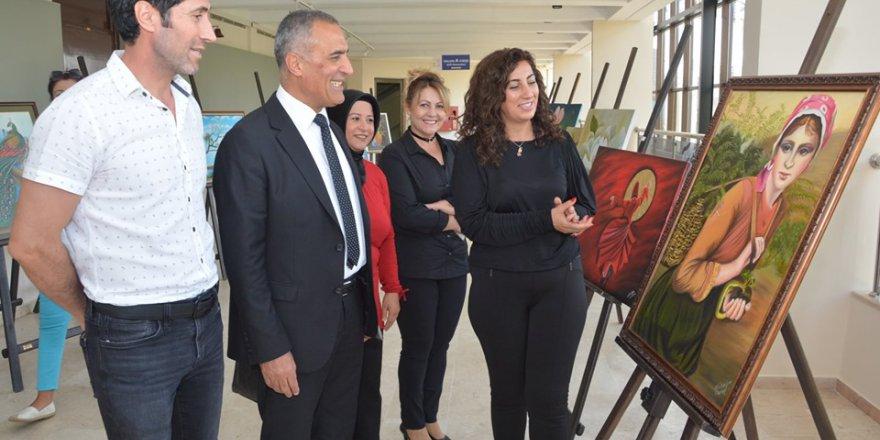 Yağlı boya resim sergisi açıldı