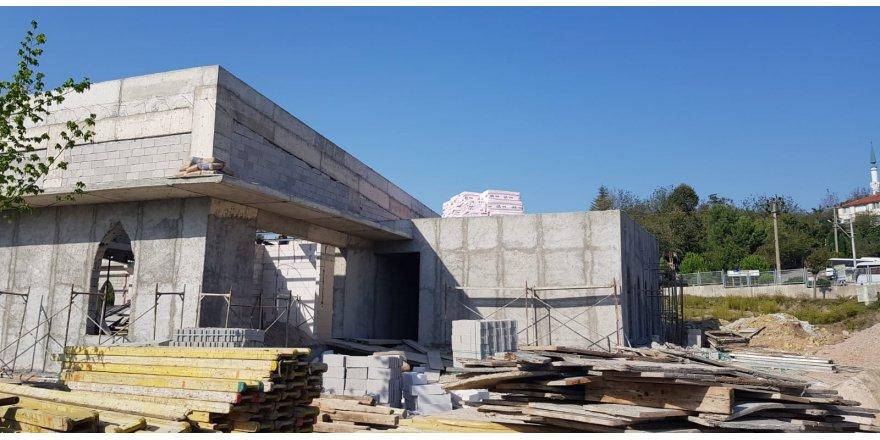 Kültür Merkezi'nin kaba inşaatı tamamlandı