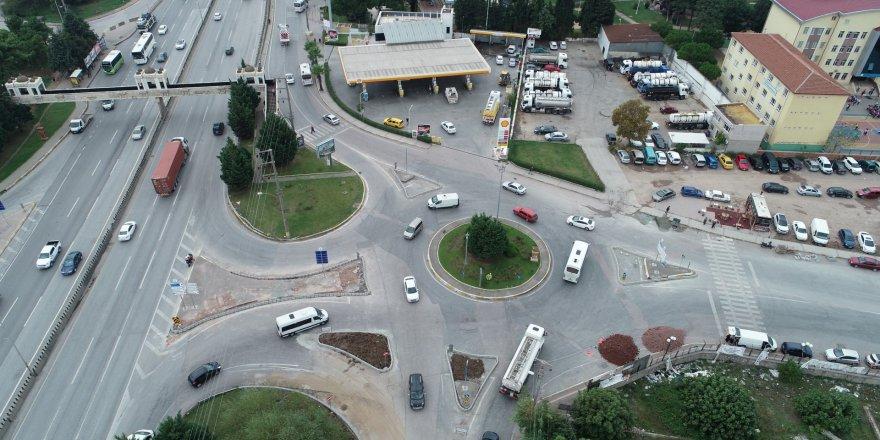 Kavşakta trafik güvenliği arttırıldı