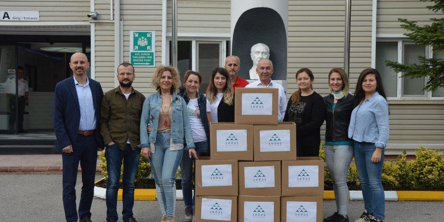 SEDAŞ gönüllülerinden kırtasiye yardımı