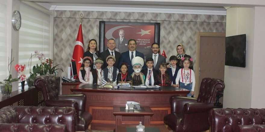 Türkiye 2'ncisi öğrencilerden ziyaret