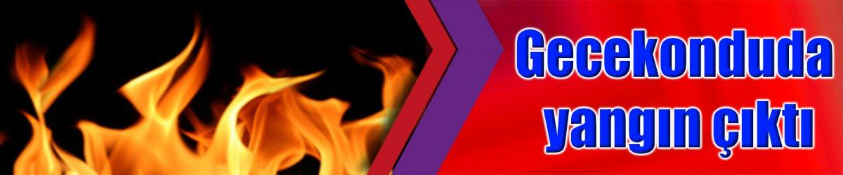 Gecekonduda yangın çıktı