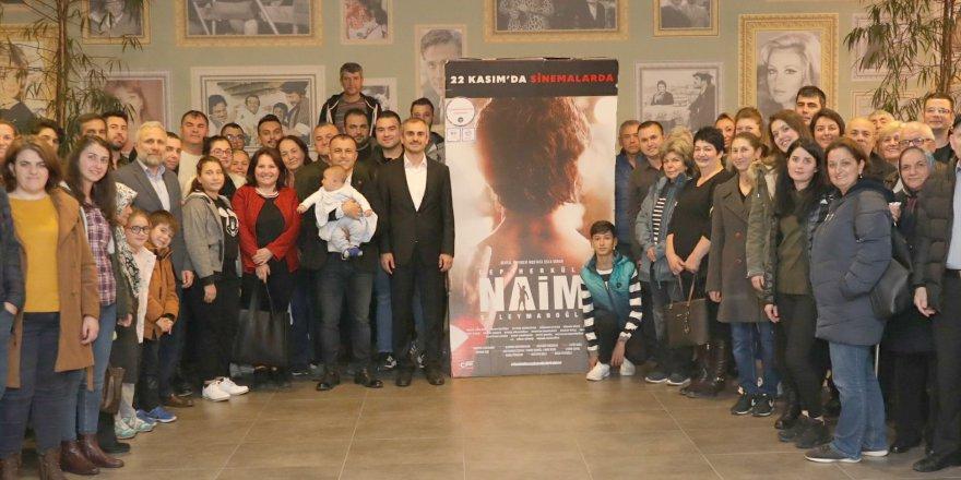 Naim Süleymanoğlu filmini izlediler