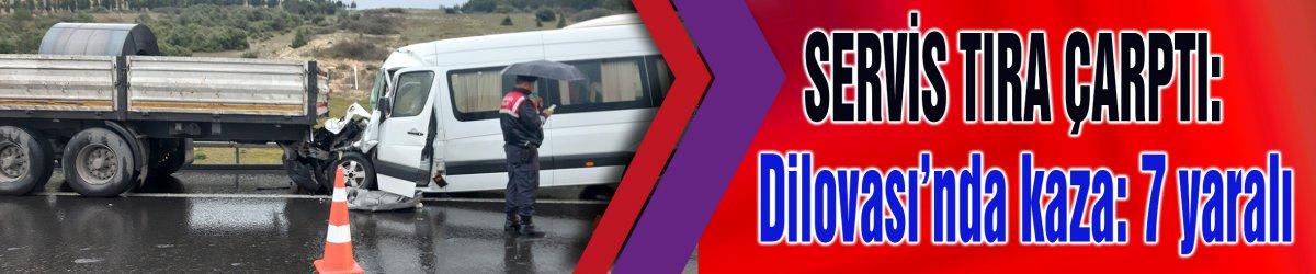 SERVİS TIRA ÇARPTI:Dilovası'nda kaza: 7 yaralı