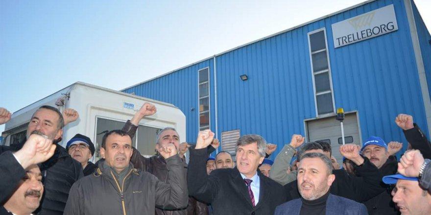 Trelleborg'da işçiler greve çıktı