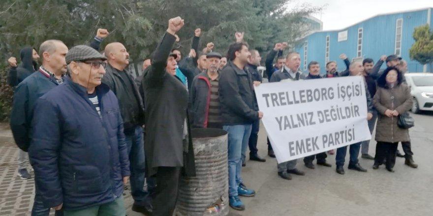 Trelleborg işçilerine destek