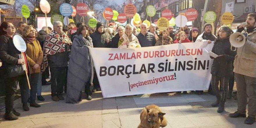 Battaniyeli doğalgaz zam protestosu
