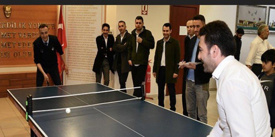 Çayırova'da masa tenisi heyecanı