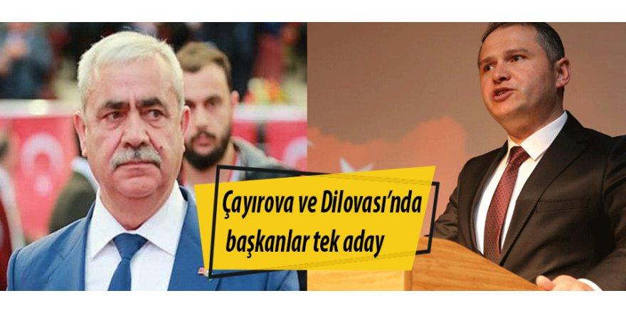 Çayırova ve Dilovası'nda başkanlar tek aday