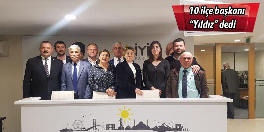 """10 ilçe başkanı """"Yıldız"""" dedi"""