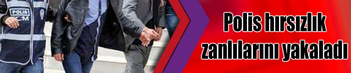 Polis hırsızlık zanlılarını yakaladı