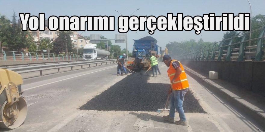 Yol onarımı gerçekleştirildi