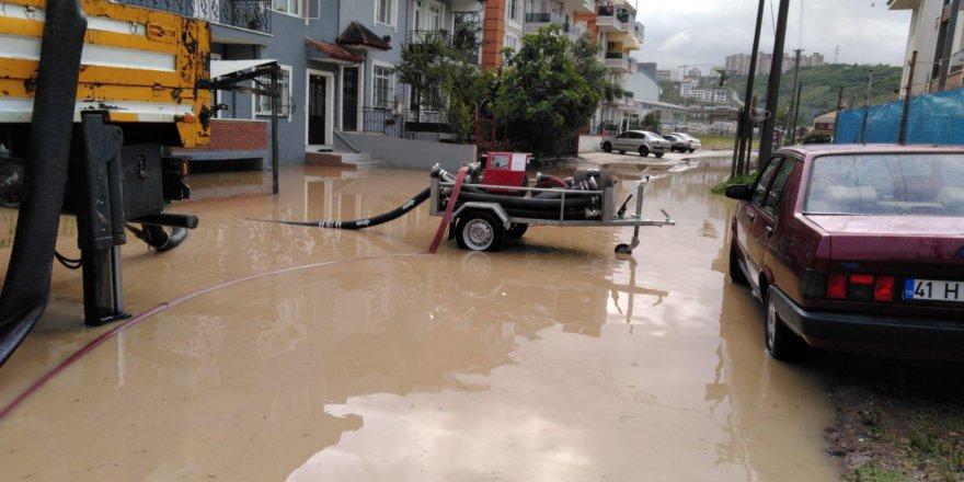 Yoğun yağış sonrası anında müdahale