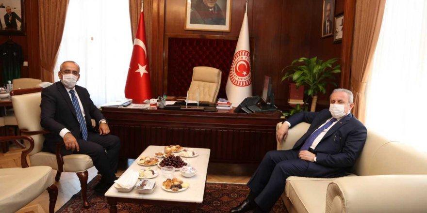 Meclis Başkanı Şentop'tan Akar'a ziyaret