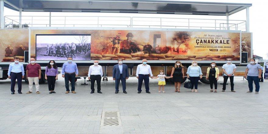 Çanakkale Savaşları Mobil Müzesi'ne ilgi yoğun oldu