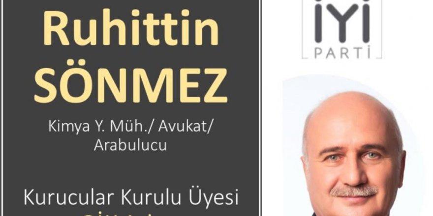 Ruhittin Sönmez İYİ Parti GİK'e aday