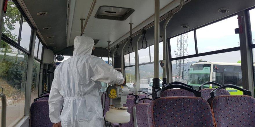 Özel halk otobüsleri periyodik  olarak dezenfekte ediliyor