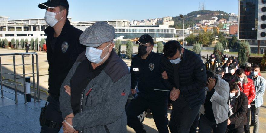 29 şüpheliden 16'sı tutuklandı