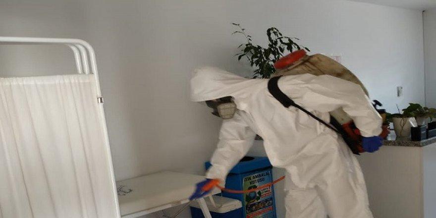 Gebze'de dezenfekte çalışmaları