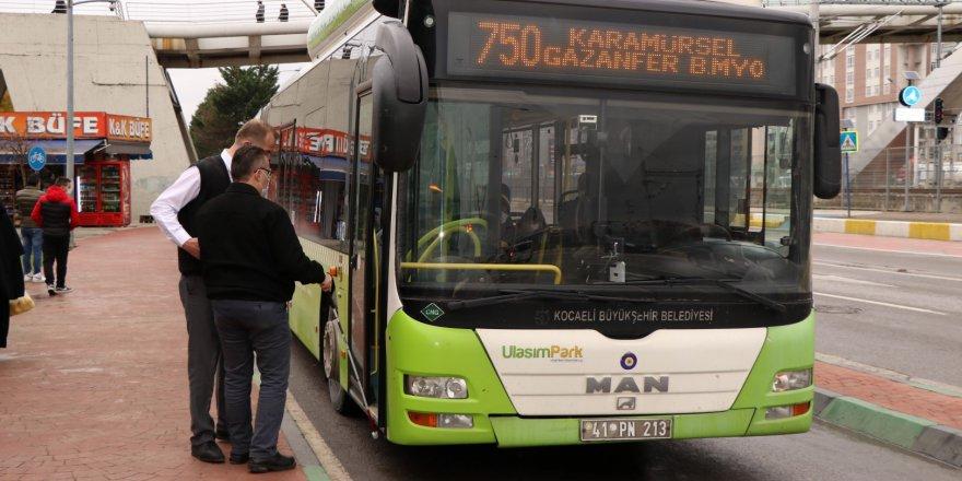 Engellilere otobüslerde asistan hizmeti