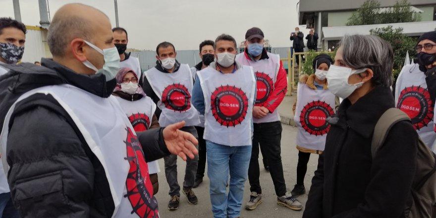 EMEP'ten MİGROS ve BALDUR işçilerine ziyaret