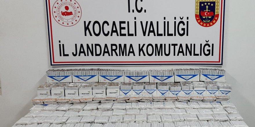 Jandarma'dan kaçak  makaron operasyonu