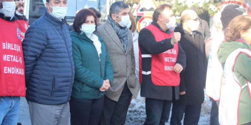 CHP'den TAYAŞ işçilerine destek