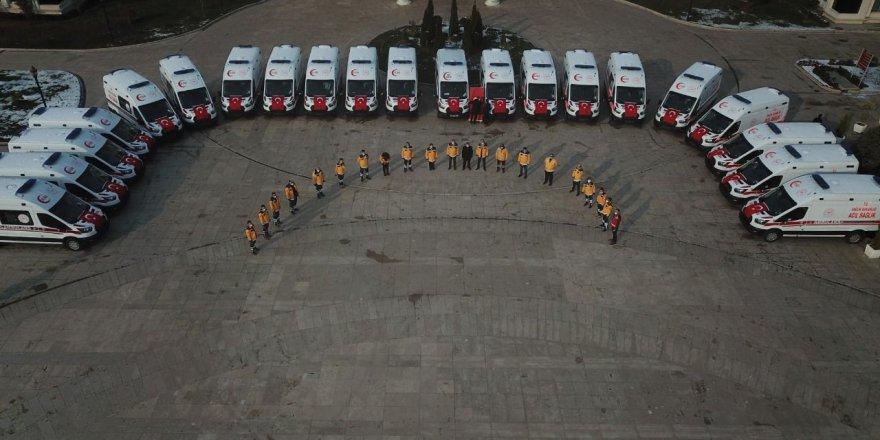 30 yeni ambulans hizmete alındı