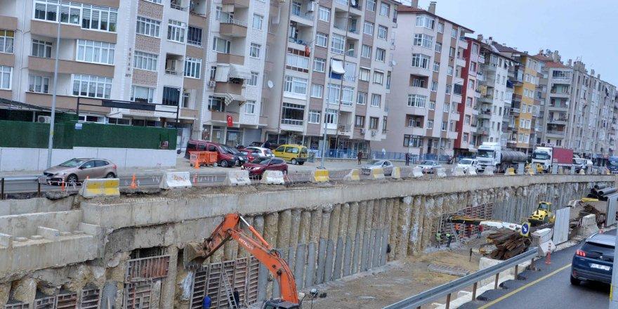 Köprülü Kavşağın tünel  kazısında son 100 metre