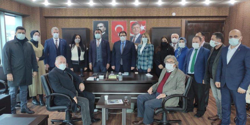 İYİ Parti'den  Gelecek Partisi'ne  geçmiş olsun ziyareti