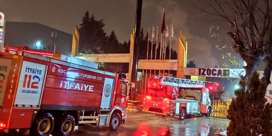 İZOCAM'da yangın çıktı