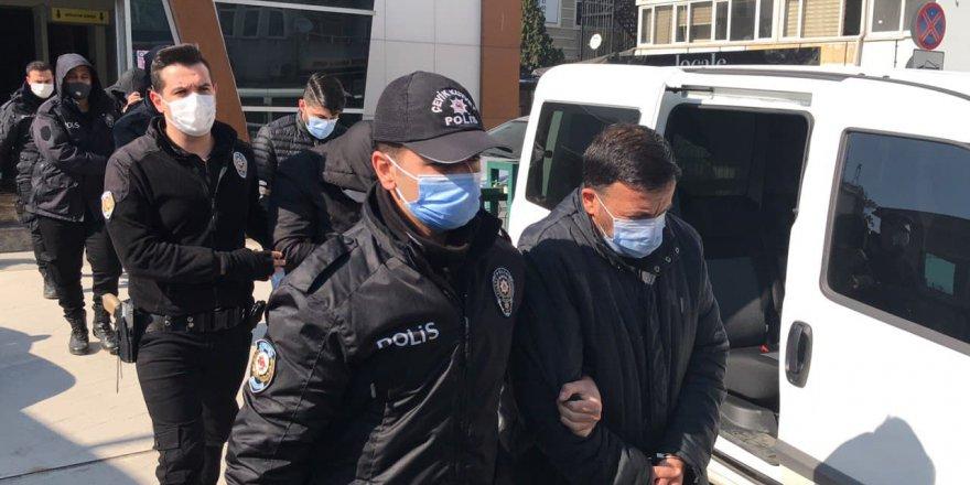 40 şüpheliden 7'si tutuklandı