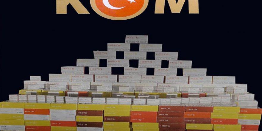 7 bin 600 paket sigara  tütünü ele geçirildi
