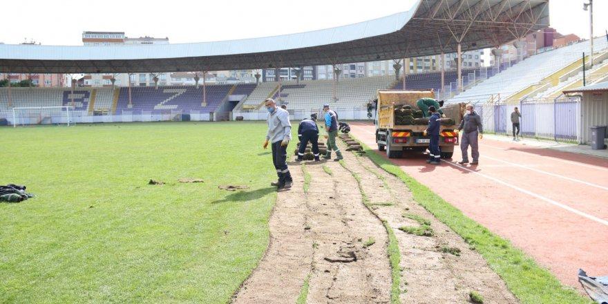 Gebze Stadı'nda yenileme çalışmaları