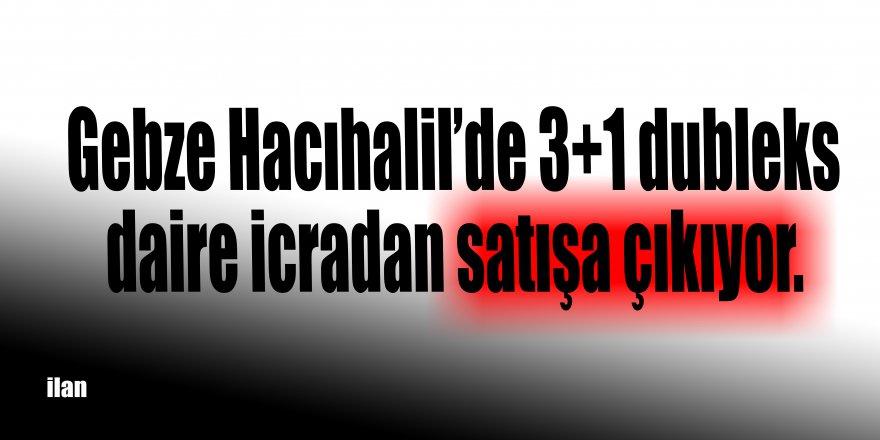 Gebze Hacıhalil'de 3+1 dubleks daire icradan satışa çıkıyor.