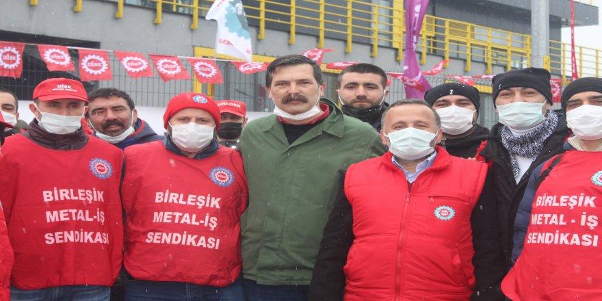 TİP lideri Erkan Baş Gebze'ye geliyor