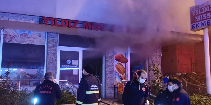 ekmek fırınında çıkan yangın söndürüldü